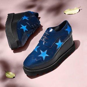 低至5折 黄金码全Stella McCartney 美包美鞋等折上折 星星厚底鞋上新