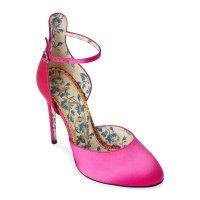 Gucci Ladies Daisy 缎面高跟鞋