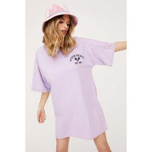 Nasty Gal香芋紫T恤裙
