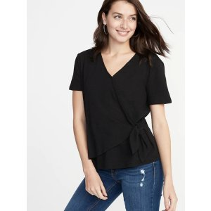 Old NavyTextured Wrap-Front Side-Tie Top for Women