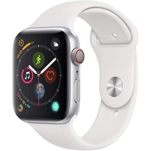 Apple Watch Series 4 (GPS + Cellular, 44mm) 白色运动表带