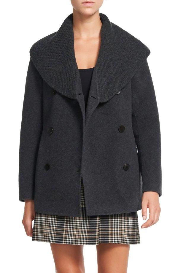 Shawl Collar Peacoat大衣