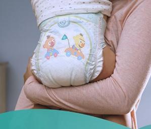$32.42(原价$40.50)帮宝适Pampers Baby Dry婴儿纸尿裤超大包装(1-6号)