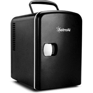 AstroAI便携式迷你小冰箱4升 黑色