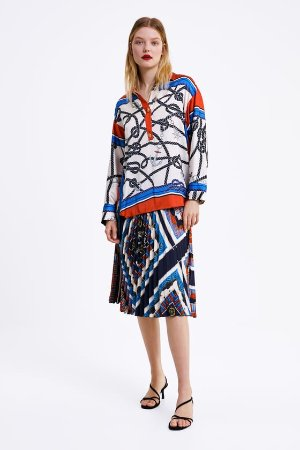 PRINTED BLOUSE - CO-ORD SETS-WOMAN | ZARA United States