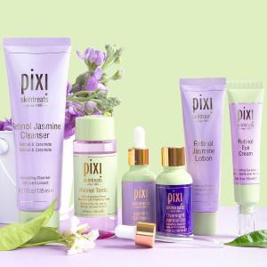 全线7.2折 明星爽肤水套装$26PIXI 英国植物护肤 收果酸换肤水、视黄醇套装