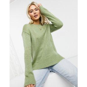New Look牛油果绿针织衫