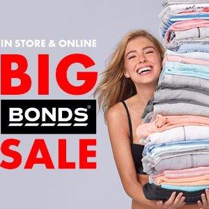 6折 包邮Boxing Day:Bonds 全场商品特卖