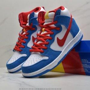 """预计本月发售预告:Nike SB Dunk High """"Doraemon"""" 实物曝光 熟悉的蓝胖子要来了"""