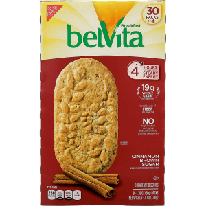 $3.8 OffBelVita Breakfast Biscuit, Cinnamon Brown Sugar, 1.76 oz, 30-count