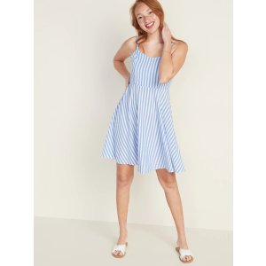 GapStriped Fit & Flare Cami Dress for Women