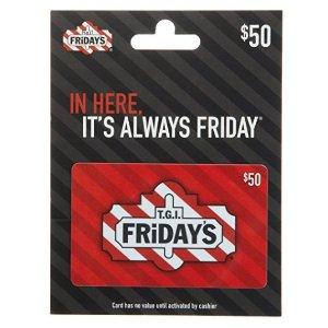 $40闪购:T.G.I. Friday's $50礼卡