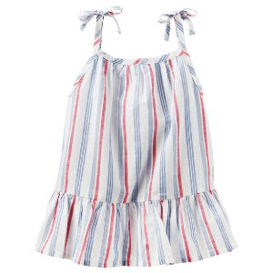 Carter's OshKosh 彩色条纹吊带裙