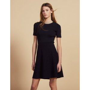 Short knit dress with jewelled collar
