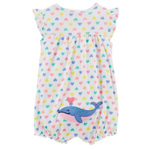 a3406bca32b Carter sWhale Snap-Up Cotton Romper