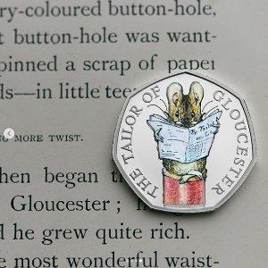 原价£120 现价£60史低价:闪促!罕见5折!Beatrix Potter彼得兔纪念币礼盒热卖