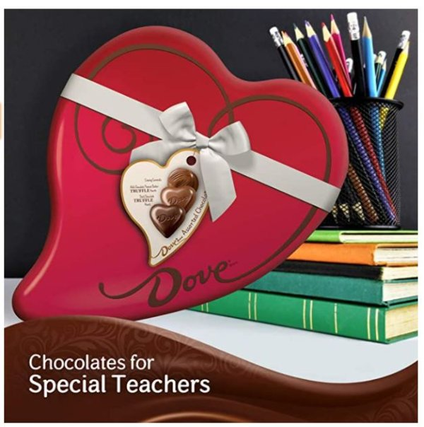 DOVE 德芙情人节心形巧克力礼盒 9.8oz 24颗粒装