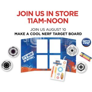 Free! Make a Cool Nerf Target BoardJCPenney Kids Zone Activity on August 10th, 2019