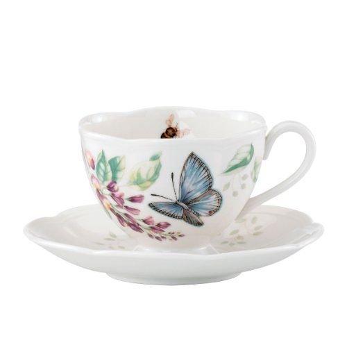 蝶舞花香茶杯碟套装