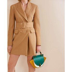 Leather Round Structured Shoulder Bag
