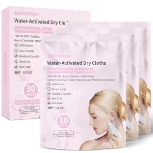 无门槛7折 1片相当于$0.3最后一天:Winner 氨基酸洁面巾超低价 纯棉材质 亲肤柔软