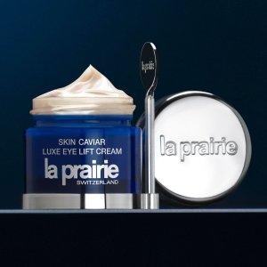 送最高2重好礼 包括自选护肤礼包La Prairie 全场彩妆护肤热卖 收鱼子酱眼霜、精华