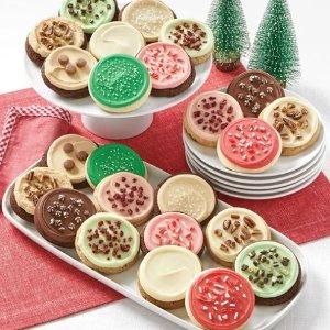 $14.9收24块饼干Cheryl's Cookies 精美节日饼干限时促销