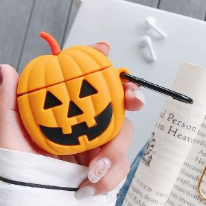 Pumpkin 1 PCS Creative Funny Yellow Pumpkin Monster Airpods Headphone Cover - With Hook AirPods1/2 Generation Universal