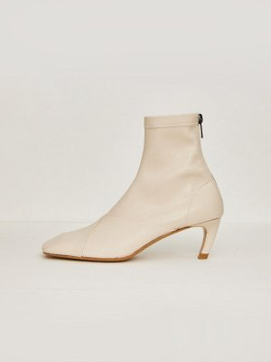 (Priority Shipping) Square Boots - Ivory  | W Concept