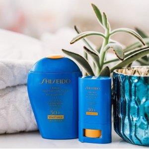 $68 (价值$96)上新:Shiseido 蓝胖子防晒套装 夏日身体防晒不可或缺