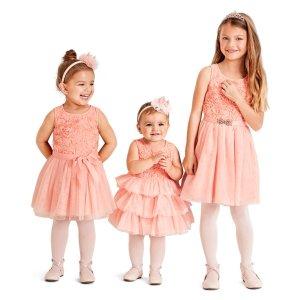 折扣升级:Children's Place官网 新款童装3-5折热卖,美裙再降