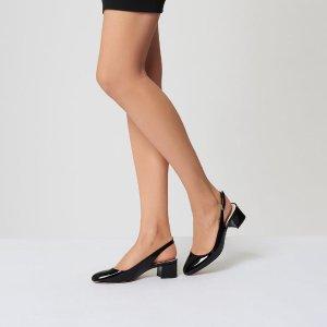 Chloe Black Patent Heel