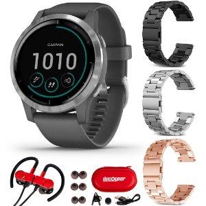 Garmin Vivoactive 4 智能手表 + 3个额外表带 + 蓝牙耳机