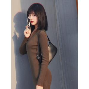 J.INGEssential Olive Zip-Up 连衣裙
