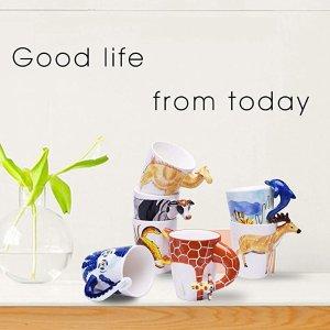 仅售€13.8 喝水也好心情HapiLeap 动物系列马克杯 350ml容量 高品质陶瓷制成