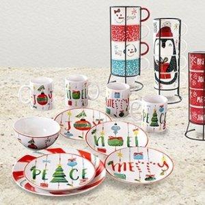低至3折 $7.97起 包邮Hautelook 精选圣诞节日主题餐具热卖