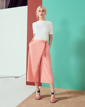 Crossover culottes - Coral | Pants | Ted Baker