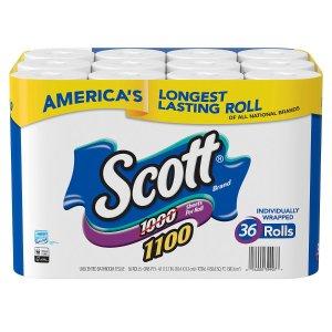 $24.88 拼手速Scott 卫生纸,1100张X36卷