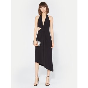 HalstonHalter Asymmetric Drape Dress