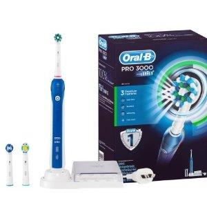 $89.62 (原价$193.9)2年质保Oral-B Pro 3000 5件套充电电动牙刷套装