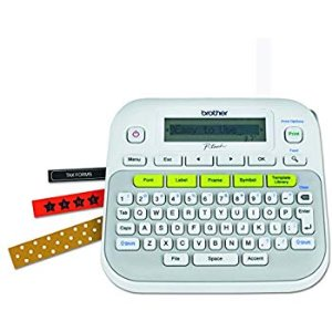 Amazon.com : Brother P-touch, PTD210, Easy-to-Use Label Maker, One-Touch Keys, Multiple Font Styles, 27 User-Friendly Templates, White : Office Products