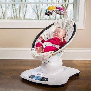 $185(原价$249.99) 近史低价4moms mamaRoo 4 可连接蓝牙婴儿摇篮椅,5种运行模式