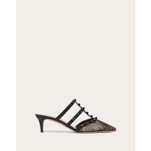 ValentinoRockstud Lace 高跟鞋 50 mm