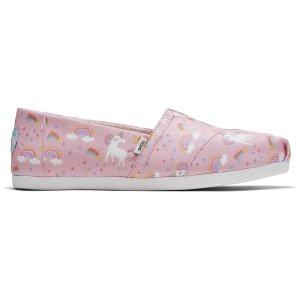 Toms彩虹优尼康帆布鞋