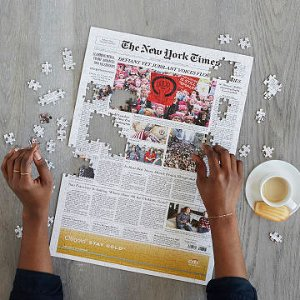 New York Times Custom Front Page Puzzle | Front Page History Puzzle | UncommonGoods