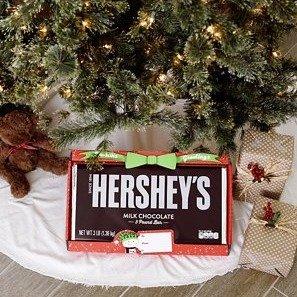 $19.98 仅Walmart有售Hershey's 巨无霸节日限定牛奶巧克力板 3 Lbs