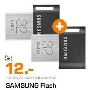 白菜价:三星 32GB U盘 两只装