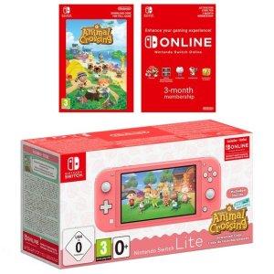 NintendoSwitch Lite版 动森粉色限定
