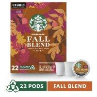 Starbucks 秋季口味中度烘焙咖啡 k-cup 22粒装