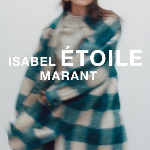 立享8.5折 封面款售€391Isabel Marant Etoile 全线热促 快收爆款3色格纹大衣 可甜可盐